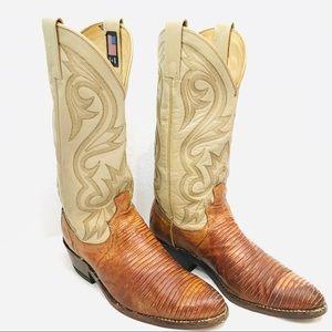 VINTAGE DAN POST TEJU LIZARD BOOTS Cowboy Western